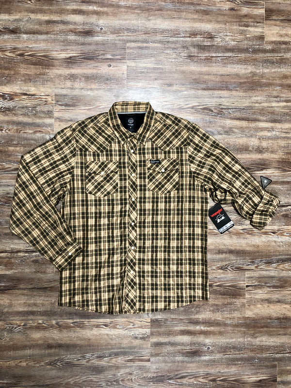 Wrangler | Outdoor Plaid LS Pearl Snap Shirt