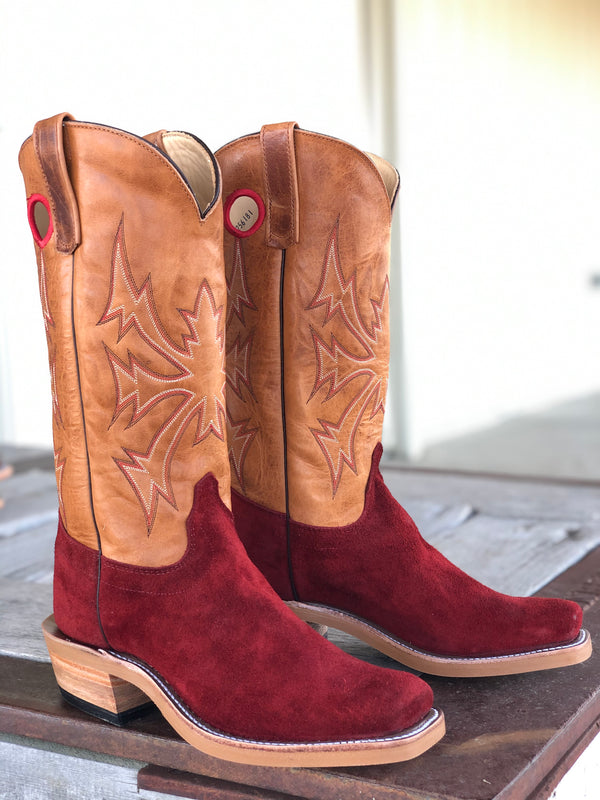 Olathe Boot Co. | Red Hot Waxy Kudu Roughout Boot