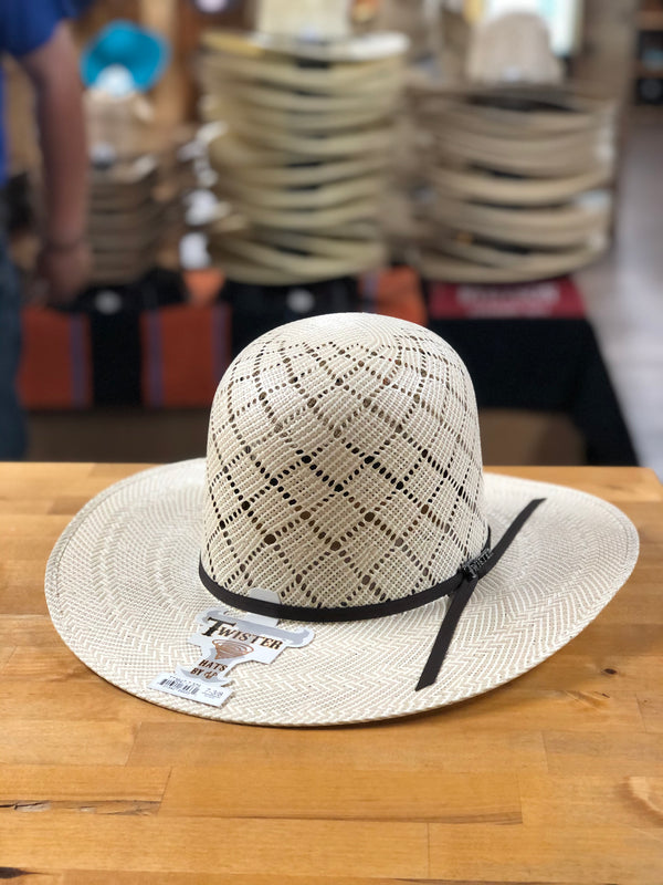 "Twister Natural Shantung 3 3/4"" Brim Straw Hat"