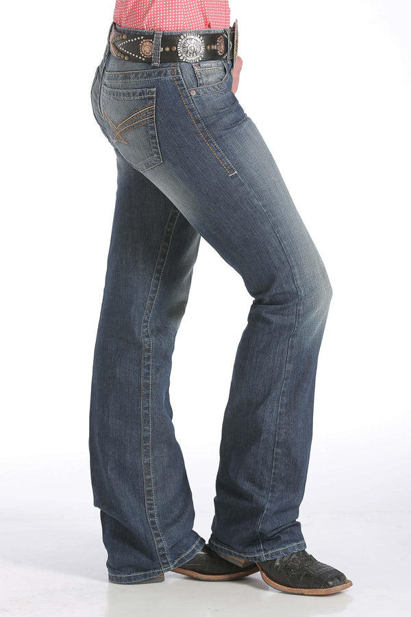 Cinch | Ada Relaxed Fit Mid Rise Medium Stonewash Jean