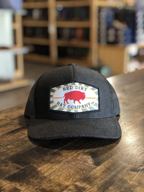 Red Dirt Hat Co. Beachnut Red Buffalo Cap Hthr Blk/Blk OS