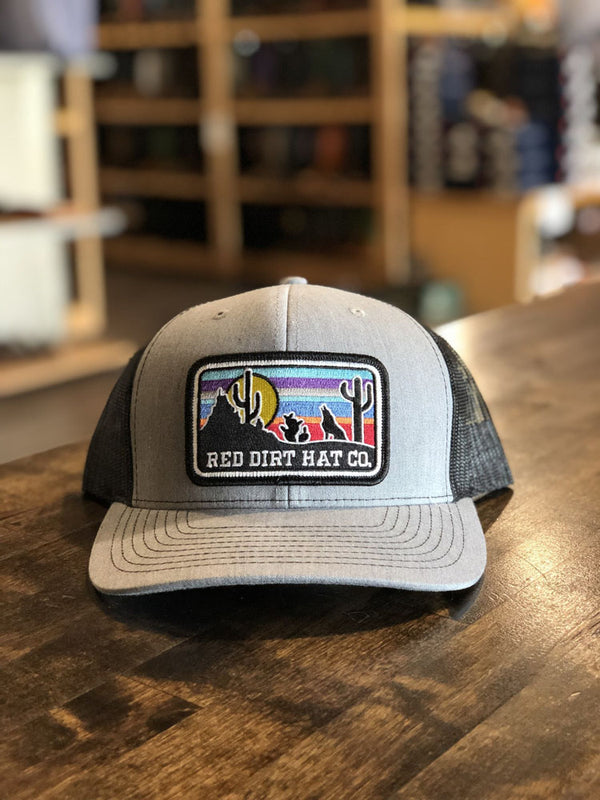 Red Dirt Hat Co. Coyote Serape Cap Grey/Black OS