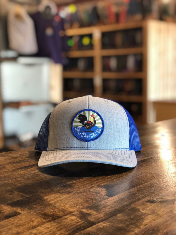 Red Dirt Hat Co. Crispy Chicken Grey/Blue