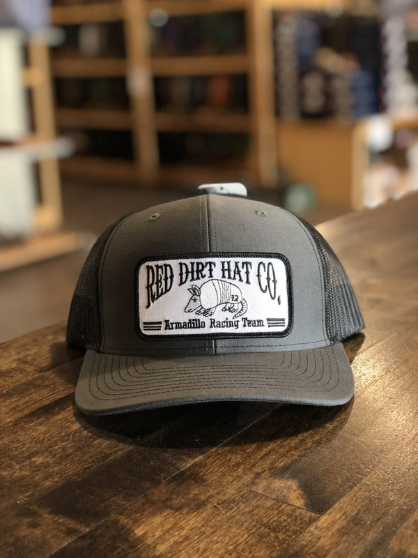 Red Dirt Hat Co. Dillo Racing Team Cap Charcoal/Blk OS