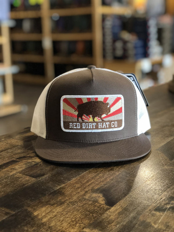 Red Dirt Hat Co. Keep Roaming 5-Panel Cap Brown/White OS