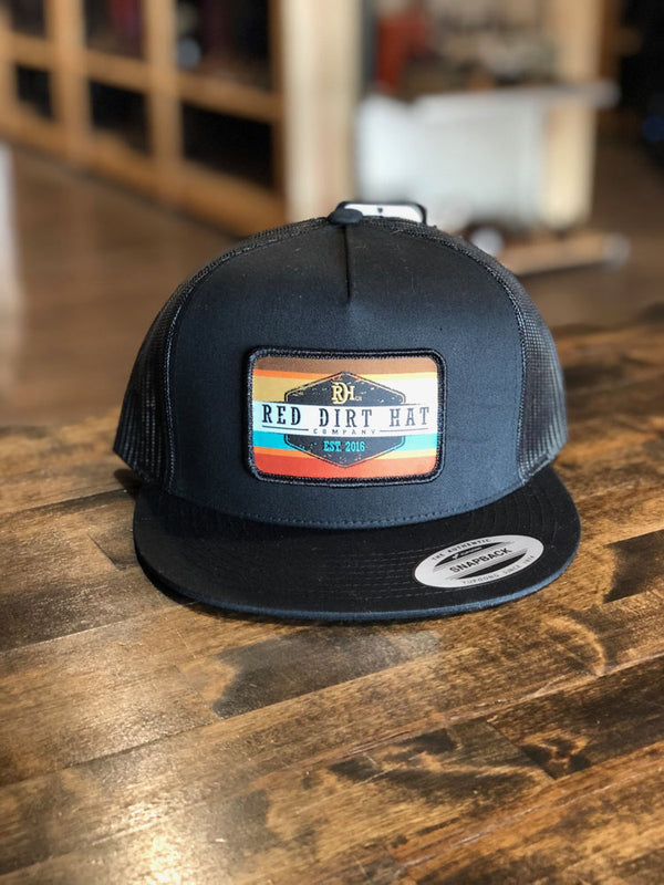 Red Dirt Hat Co. Army Sunset 5 Panel Cap Black/Black OS