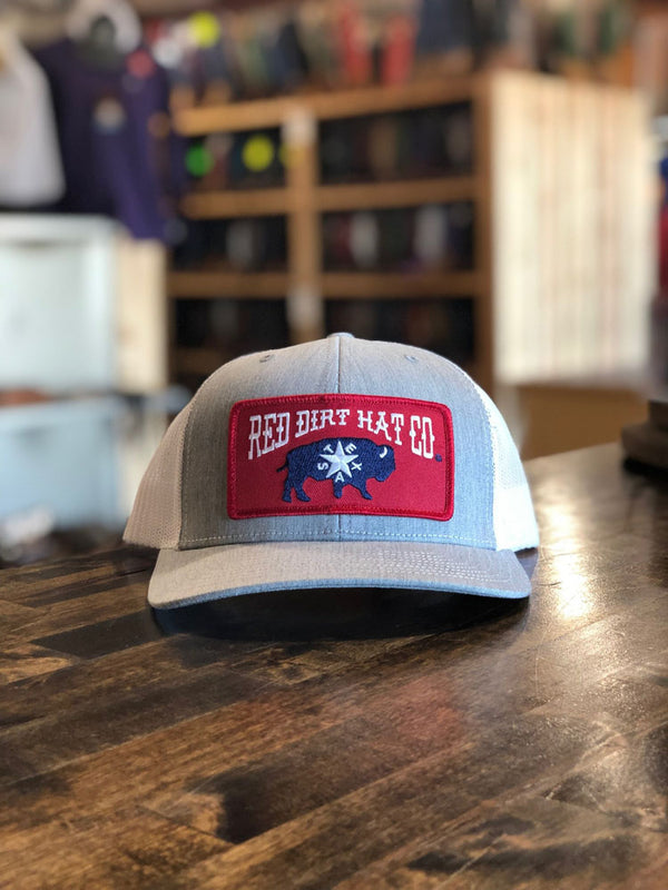 Red Dirt Hat Co. Republic of Texas Cap Grey/White