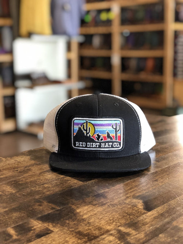Red Dirt Hat Co. Serepe Coyote Kids Cap Black/White Kids