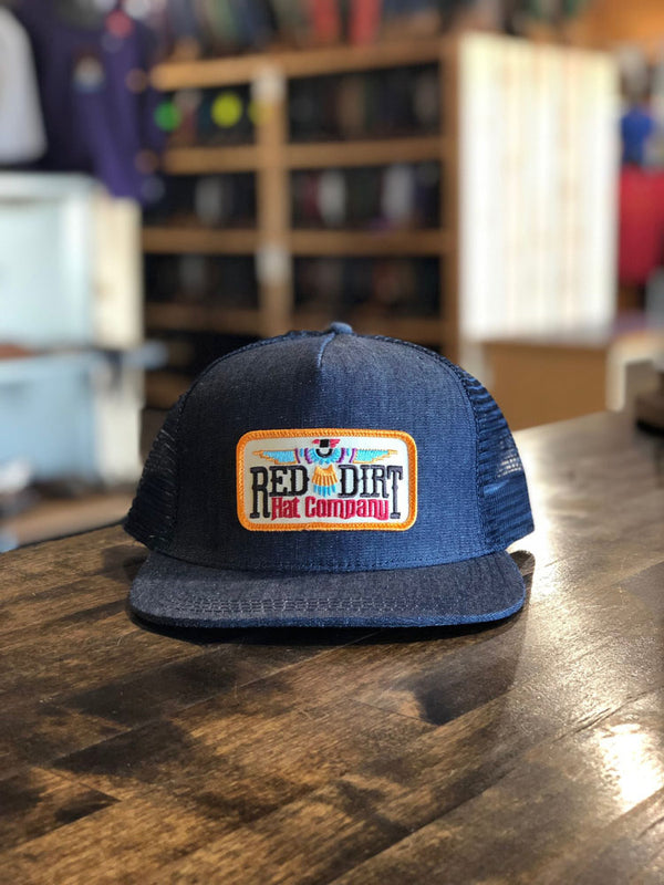 Red Dirt Hat Co. | T-Bird Denim Trucker Cap Navy