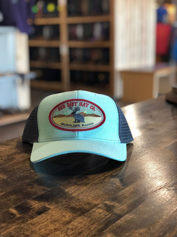Red Dirt Hat Col Jackalope Ranch Cap Green/Charcoal