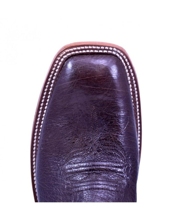 Rios of Mercedes | Nicotine Smooth Quill Ostrich Boot