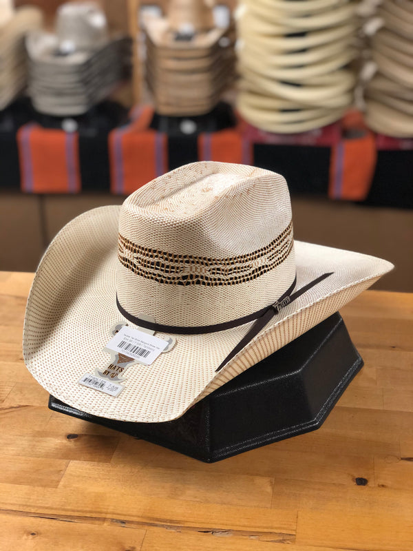 Twister | Tan Brick Bangora Straw Hat