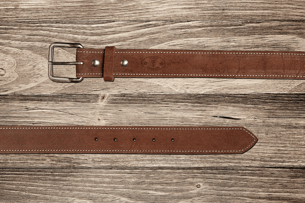 Texas Saddlery | Brown Rough Out Belt