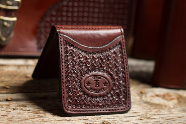 Texas Saddlery | Chocolate Money Clip Wallet