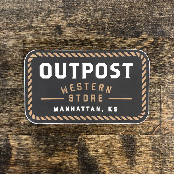 Outpost Logo Sticker Rectangle