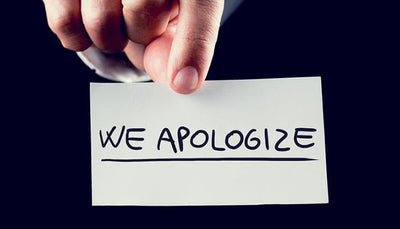 A very needed apology for you all ladies!