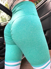 Soccer Mom High Thigh in Heather Mint (Just Leggings)