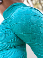 Push Up in Boho Texture Aqua - ABS2B FITNESS APPAREL
