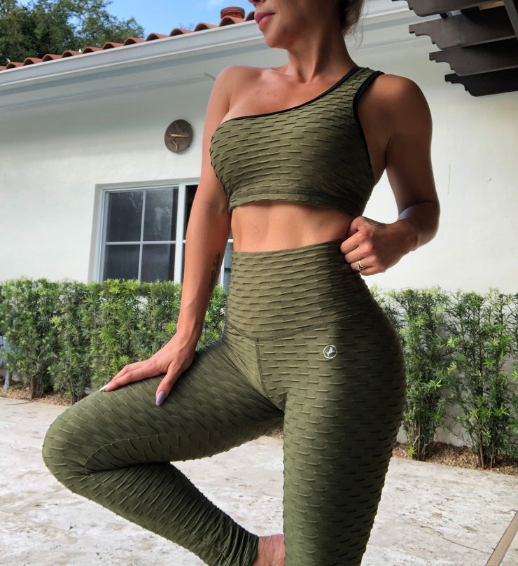 Zero-Flaws Army Green - ABS2B FITNESS APPAREL