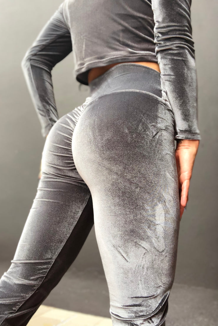 Velvet Babe Jogger OR Tracksuit in Ash Gray - ABS2B FITNESS APPAREL