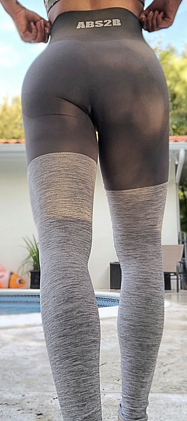 Gray Seamless PRO High Knee Booty Plumper - ABS2B FITNESS APPAREL