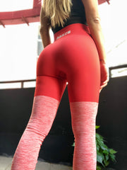 Red Seamless PRO High Knee Booty Plumper - ABS2B FITNESS APPAREL