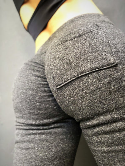Scrunch Booty Joggers in Eco Gray