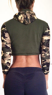 Isabella Cropped Hoodie (all colors and prints) - ABS2B FITNESS APPAREL