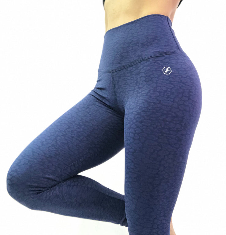 Textured Cheetah Deep Blue (Ready to ship) - ABS2B FITNESS APPAREL
