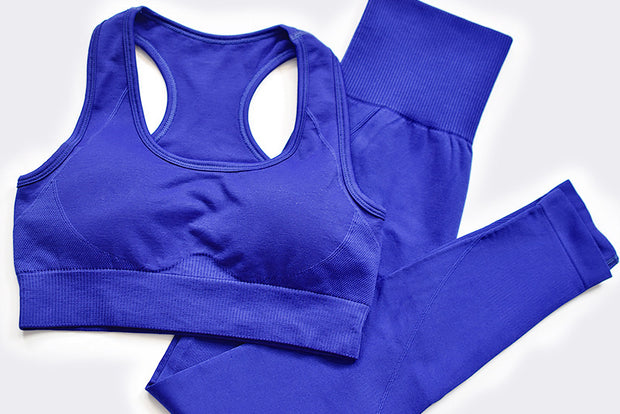 Royal Blue Compression Seamless Set