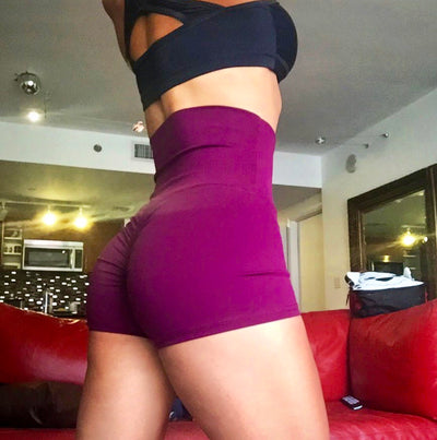 Super Mega High Raise Hepburn Shorts - ABS2B FITNESS APPAREL