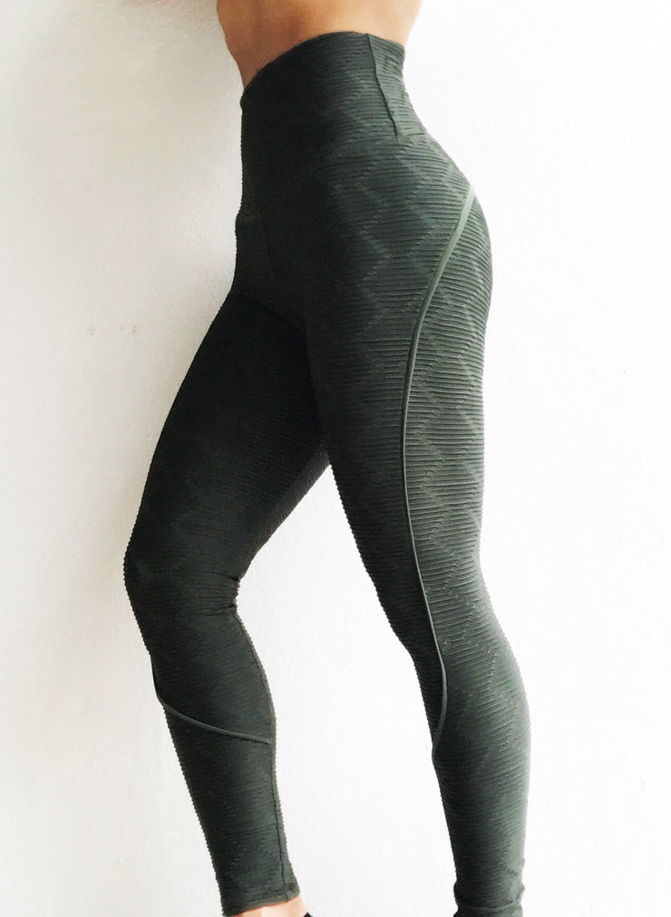 Push Up in Diamond Shape Texture Army Green
