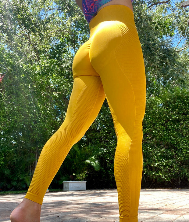 ABS2B Seamless Corset Roasted Yellow - ABS2B FITNESS APPAREL