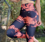 Tie Dye Joggings Orange Black