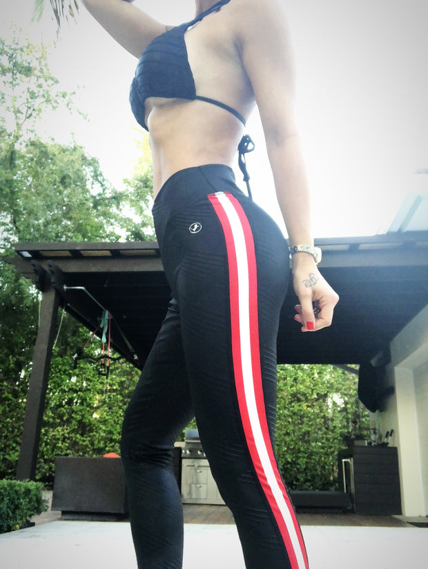 Street Stripes Felina Leather - ABS2B FITNESS APPAREL