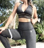 Soccer Mom Thigh High leggings in Dharma Gray - ABS2B FITNESS APPAREL