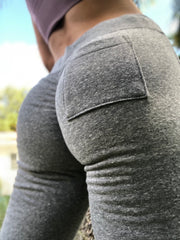 Scrunch Booty Joggers Heather Gray - ABS2B FITNESS APPAREL