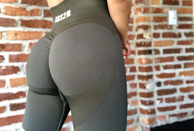 Army Green Seamless PRO High Knee Booty Plumper