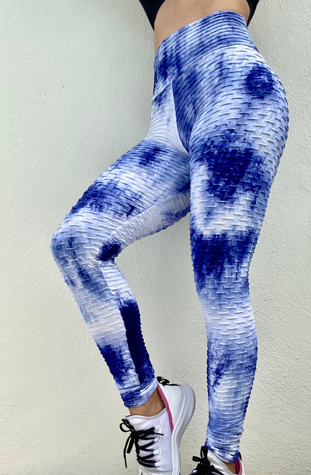 Zero Flaws Brazilian Tie Dye Blue and White