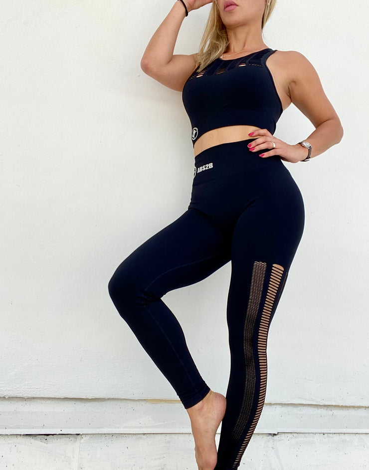 Rebel Seamless Set Jet Black - ABS2B FITNESS APPAREL