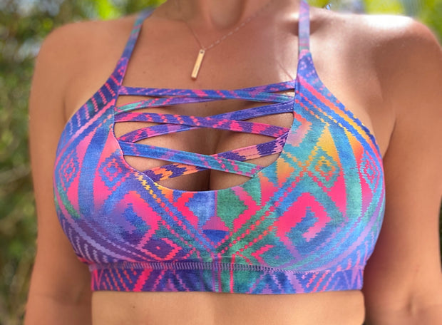 Sassy front sports Bra (All prints/Colors) - ABS2B FITNESS APPAREL