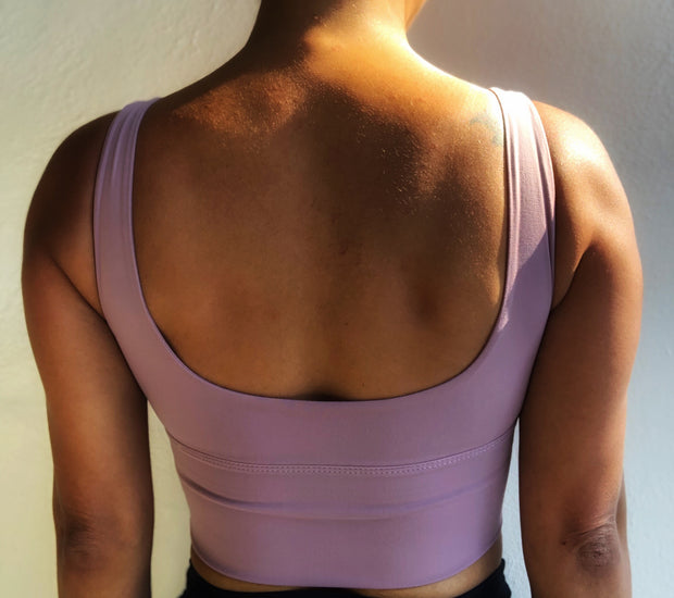 Summer Crop Top Muted Lilac - ABS2B FITNESS APPAREL