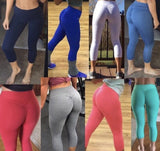 SOLIDS (regular raise scrunch booty leggings)