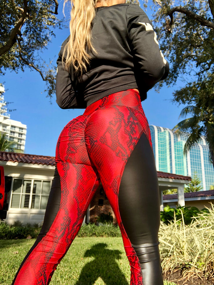 Red Quadzilla Leather Python - ABS2B FITNESS APPAREL