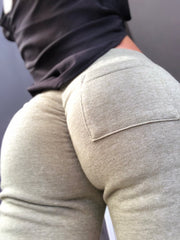 Scrunch Booty Joggers in Dusty Army Green