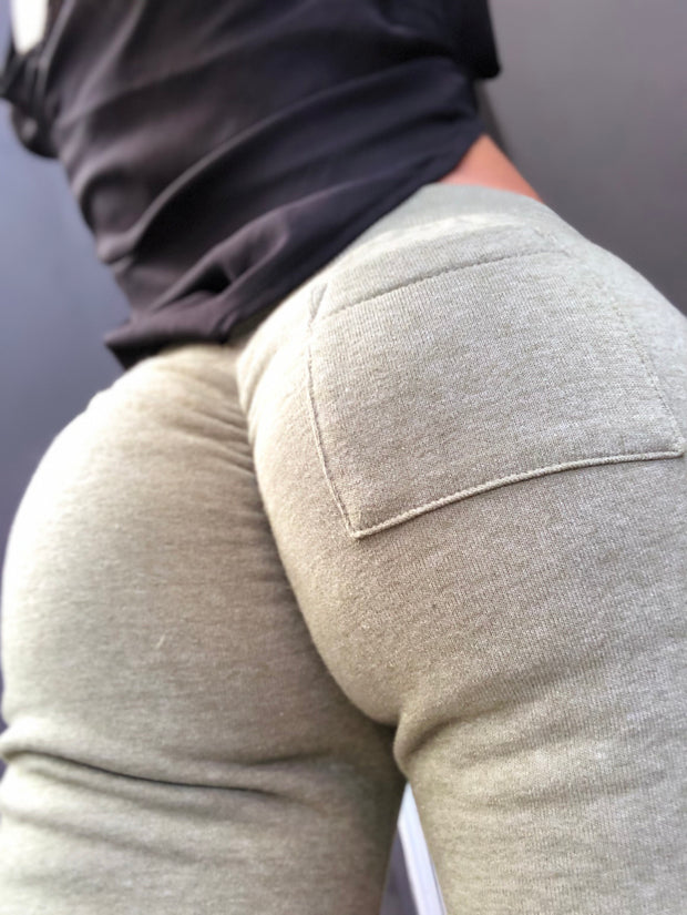 Scrunch Booty Joggers in Dusty Army Green - ABS2B FITNESS APPAREL