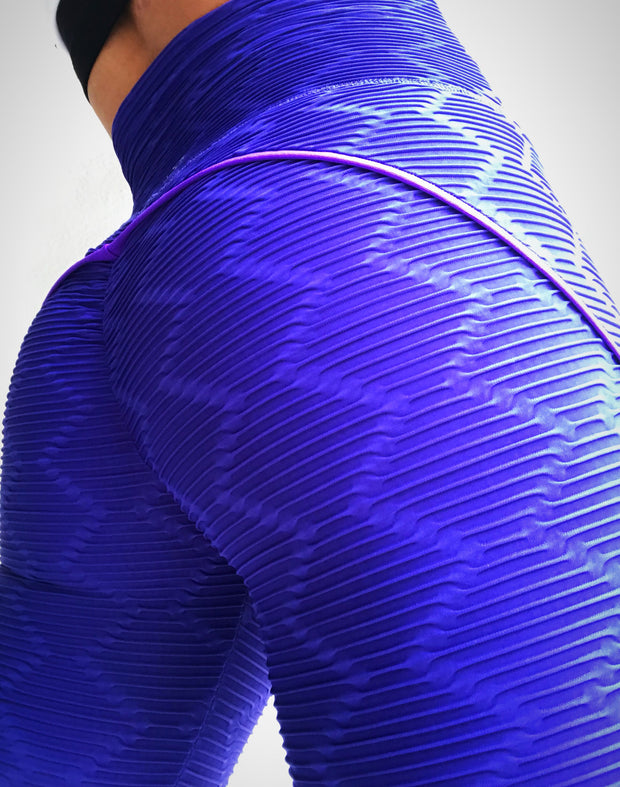 Push Up in Diamond Shape Texture Electric Blue - ABS2B FITNESS APPAREL