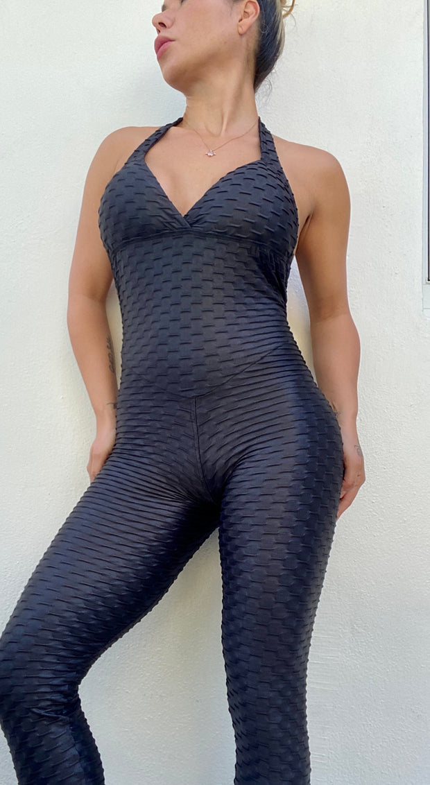 Zero Flaws Jumpsuit Classic Black - ABS2B FITNESS APPAREL