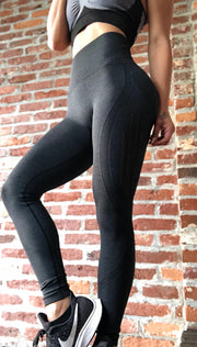 Seamless Laser Cut New Generation Eco Black - ABS2B FITNESS APPAREL