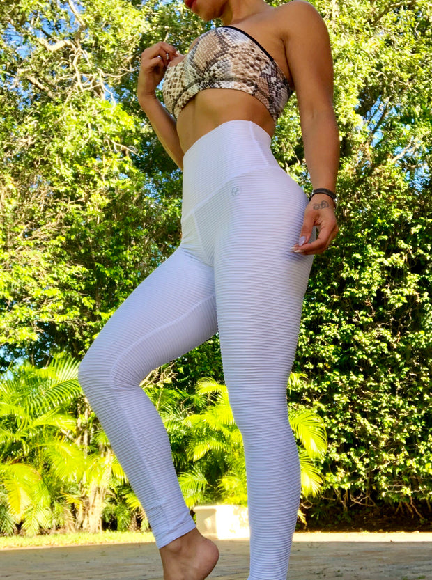 Slimming Ribbed White - ABS2B FITNESS APPAREL